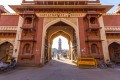 Entrance to Sardar Market in Jodhpur Royalty Free Stock Photos