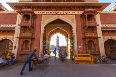 Entrance to Sardar Market in Jodhpur Stock Photos