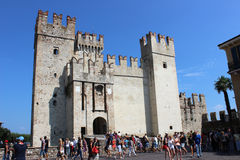 Entrance to Scaliger Castle, Sirmione, Italy Stock Image