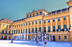 Entrance to Schonbrunn Palace Stock Image