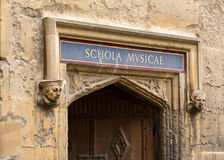 Entrance to School of Music at Bodeian Library Royalty Free Stock Photos