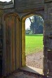 Entrance to a secret garden. Royalty Free Stock Photography