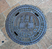 Entrance to the sewer Royalty Free Stock Photo