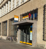 Entrance to the Sihlpost post office in Zurich, Switzerland. Zurich, Switzerland - 18 June, 2017: one of the entrances to the Sihlpost post office on Royalty Free Stock Photo