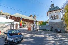 Entrance to Sinaia Monastery in Romania royalty free stock images