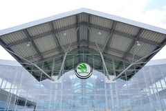 Entrance to the Skoda Auto assembly hall Royalty Free Stock Image