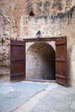 Entrance to the small orthodox chapel Royalty Free Stock Image