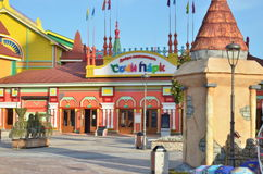 Entrance to Sochi adventure park near the Olympic Park. Royalty Free Stock Image