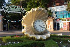 The entrance to the Sochi Park. Sculpture and clock at the entrance of the Sochi Park Stock Images