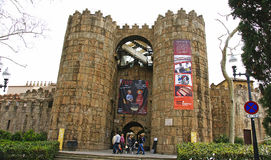 Entrance to the Spanish Village. Montjuic, Barcelona Royalty Free Stock Photos