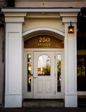 Entrance to Speakeasy Bar and Grill on Historic Thames Street, Newport, RI. Stock Photography