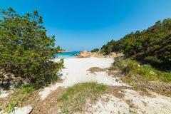 Entrance to Spiaggia del Principe. Beach, Sardinia Stock Images