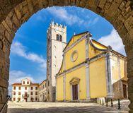 Entrance to the square. Entrance to the square in the historic town of Motovun on the peninsula of Istria, Croatia, Europe Royalty Free Stock Images