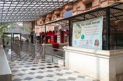Entrance to the Sri Krishna-Balaram Temple Royalty Free Stock Image