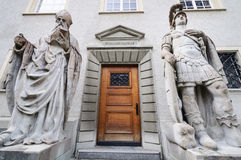 Entrance to St. Gallen chapel. Switzerland stock photography