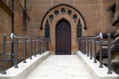 Entrance to st. Mary's Cathedral Cathedral. Royalty Free Stock Image
