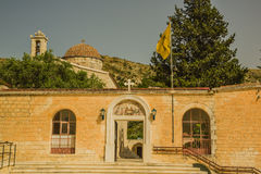 Entrance to St. Neofitas monastery. stock photography