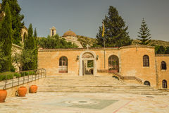 Entrance to St. Neofitas monastery. Royalty Free Stock Images