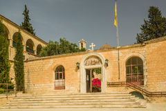 Entrance to St. Neofitas monastery. Stock Image