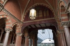 Entrance to St Pancras Railway Stati Royalty Free Stock Photos