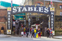 Entrance to the Stables Market in Camden Royalty Free Stock Photos