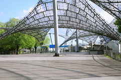 Entrance to the stadium of the Olympiapark. Royalty Free Stock Photo