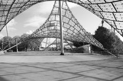 Entrance to the stadium of the Olympiapark. Royalty Free Stock Photos