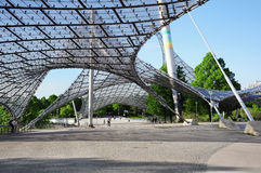 Entrance to the stadium of the Olympiapark. Stock Images