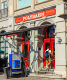 Entrance to the station of the Polybahn on Central square in Zur Royalty Free Stock Photo
