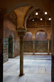 Entrance to steambath at the alhambra stock photo
