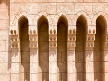 Entrance to the street, a lane with stone and buildings, the passage between the buildings in the Arab Islamic Islamic warm tropic royalty free stock image