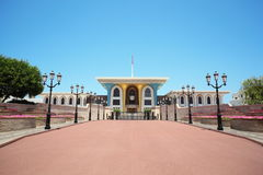 Entrance to the Sultan's Palace in Oman in center Stock Photo