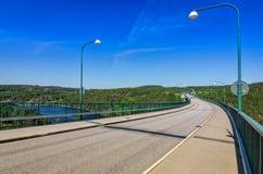 Entrance to Svinesund bridge Stock Photography