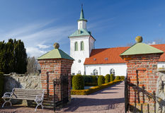 Entrance to Swedish church Royalty Free Stock Photos
