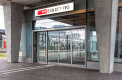 Entrance to the Swiss Federal Railways office in Wallisellen Stock Photography