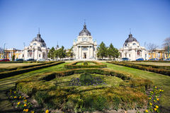 Entrance to Szechenyi Medicinal Bath in Budapest Royalty Free Stock Photography