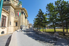 Entrance to Szechenyi Medicinal Bath in Budapest Royalty Free Stock Photo