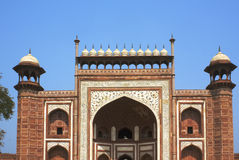 Entrance to the Taj Mahal Stock Photos