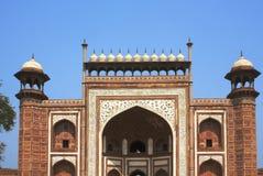 Entrance to the Taj Mahal. At Agra, India Stock Photos