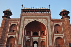 Entrance to the Taj Mahal in Agra Stock Photography