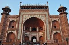 Entrance to the Taj Mahal in Agra Stock Photography