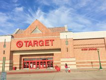 Entrance to Target the second-largest discount store retailer in. IRVING, TX, US-APR 17, 2018:Customers enter Target entrance, the second-largest discount store Stock Image