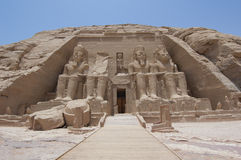 Entrance to the Temple at Abu Simbel Royalty Free Stock Photos