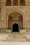 An entrance to a temple in Amber Fort, India Royalty Free Stock Photos