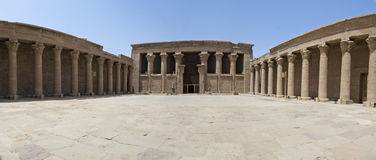 Entrance to the temple at Edfu Royalty Free Stock Photography