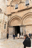 Entrance to the temple of the Holy Sepulchre Stock Image