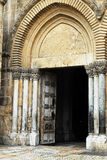 Entrance to the temple of the Holy Sepulchre Stock Photos