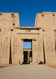 Entrance to the Temple of Horus, Edfu Stock Images