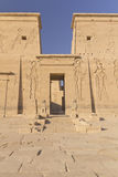 Entrance to the Temple of Isis (Egypt) Stock Photo