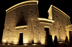 Entrance to the temple of Isis on Philae Island Royalty Free Stock Photography